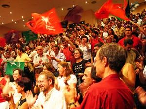 Left bloc rally