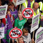trade-union cuts march