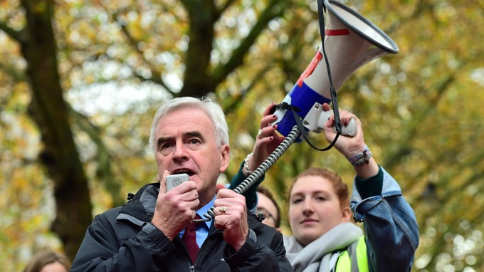 john mcdonnell protest