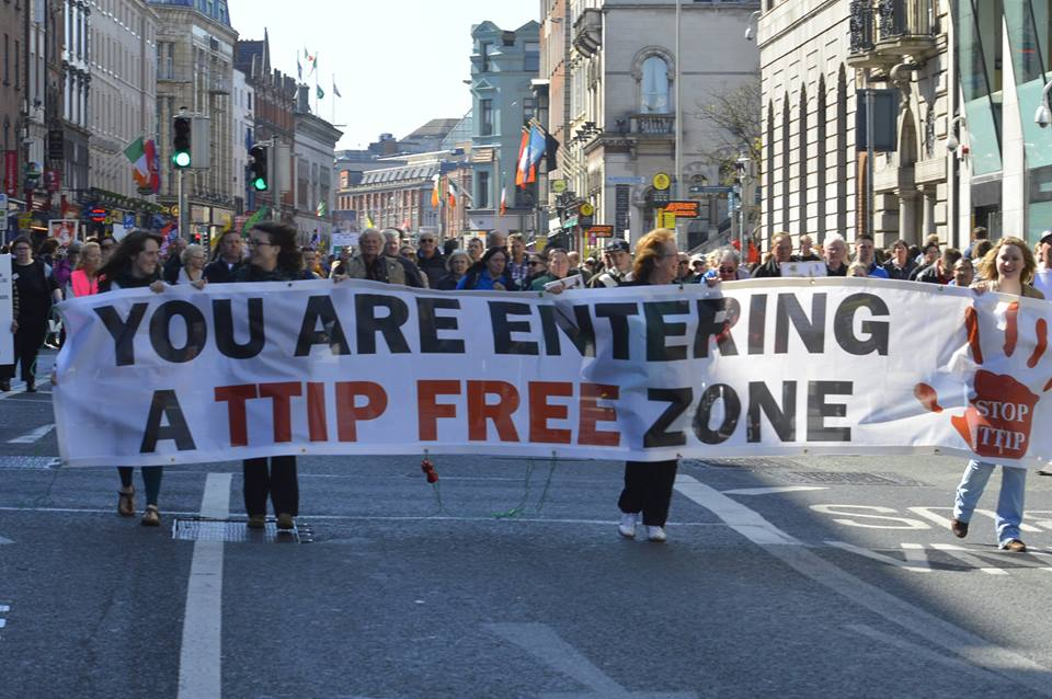 We can make Europe a TTIP free zone. But outside it we'll be at the mercy TTIP-like agreements