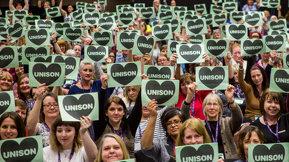 Trade unionists at Unison Women Members Conference