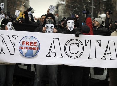 protest against acta