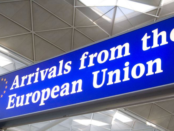 arrivals from the european union